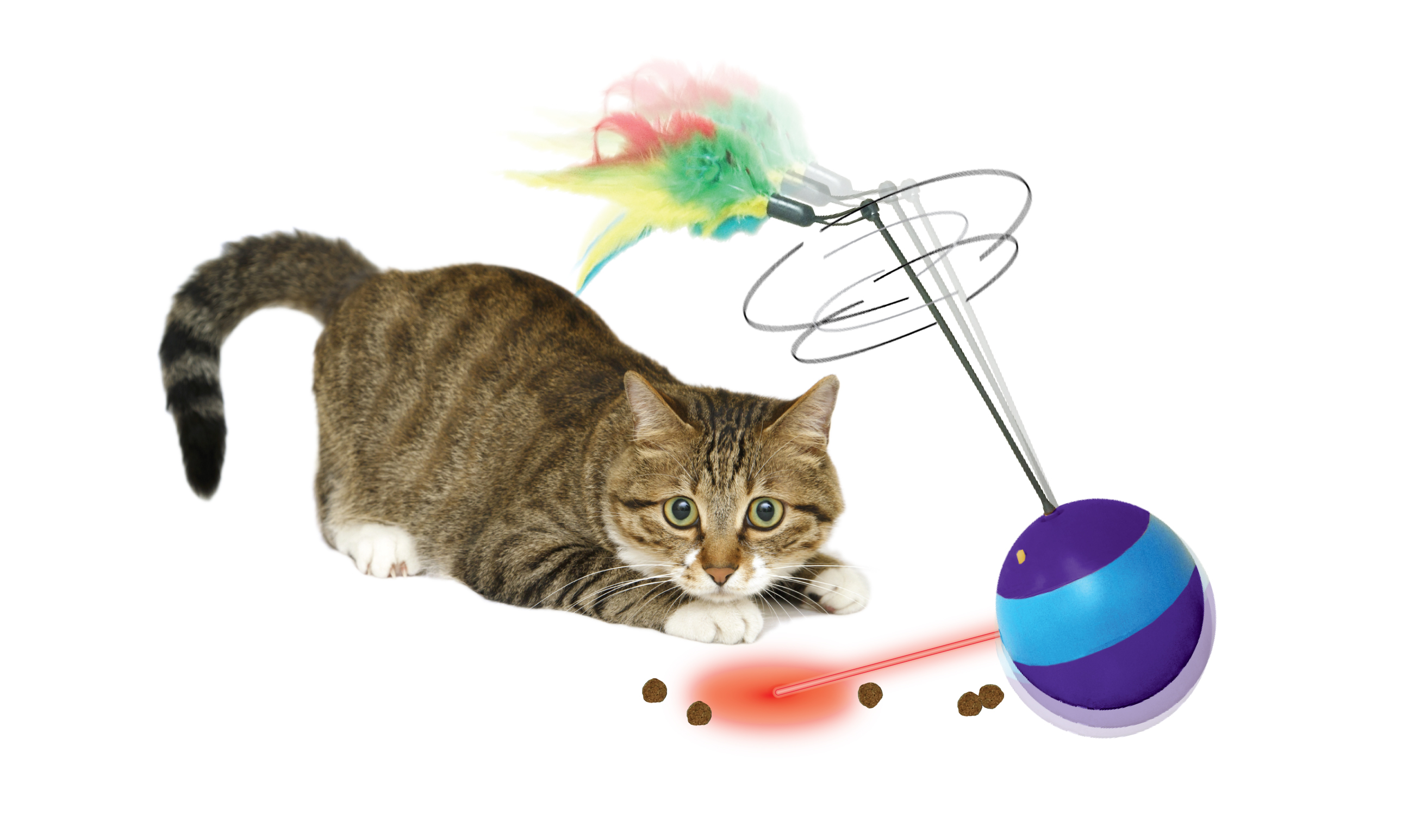 SPIN ABOUT ELECTRONIC LASER CAT TOY & TREAT DISPENSER Ethical Pet